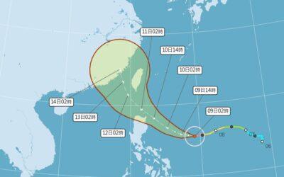 強烈颱風璨樹可能提前北轉 週末最接近台灣不排除直接登陸
